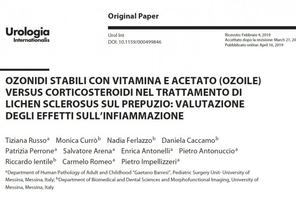 Stable ozonides with vitamin and acetate (ozoyl) versus corticosteroids